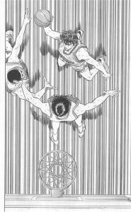 桜木のダンクシュート